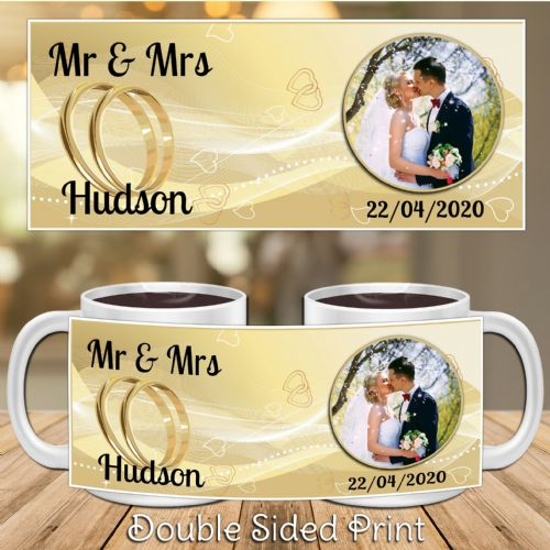 Personalised Mr & Mrs Wedding Gift PHOTO Mug N14